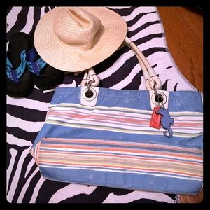 Nautical Style Coach Bag